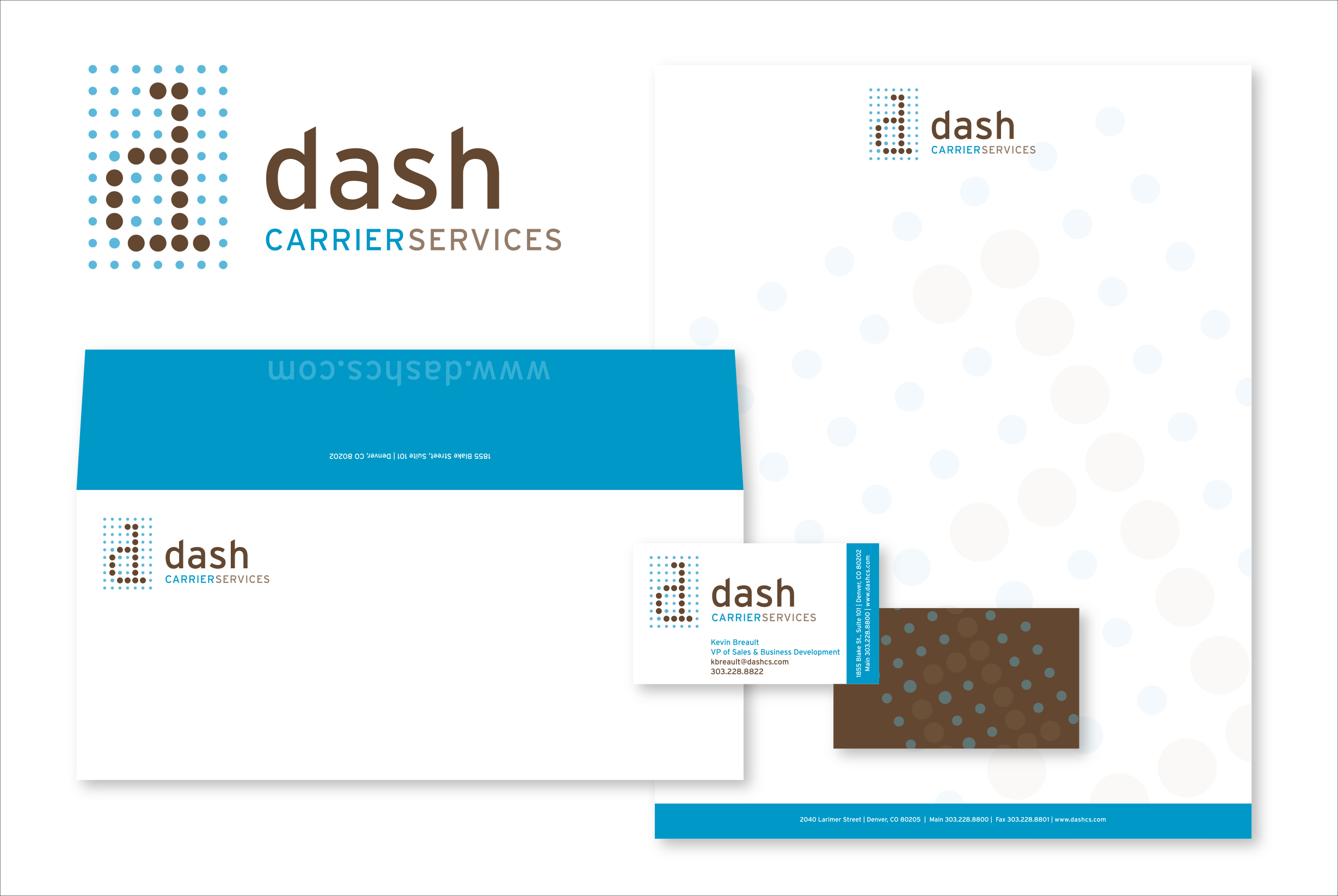dash Carrier Services Identity and Stationery