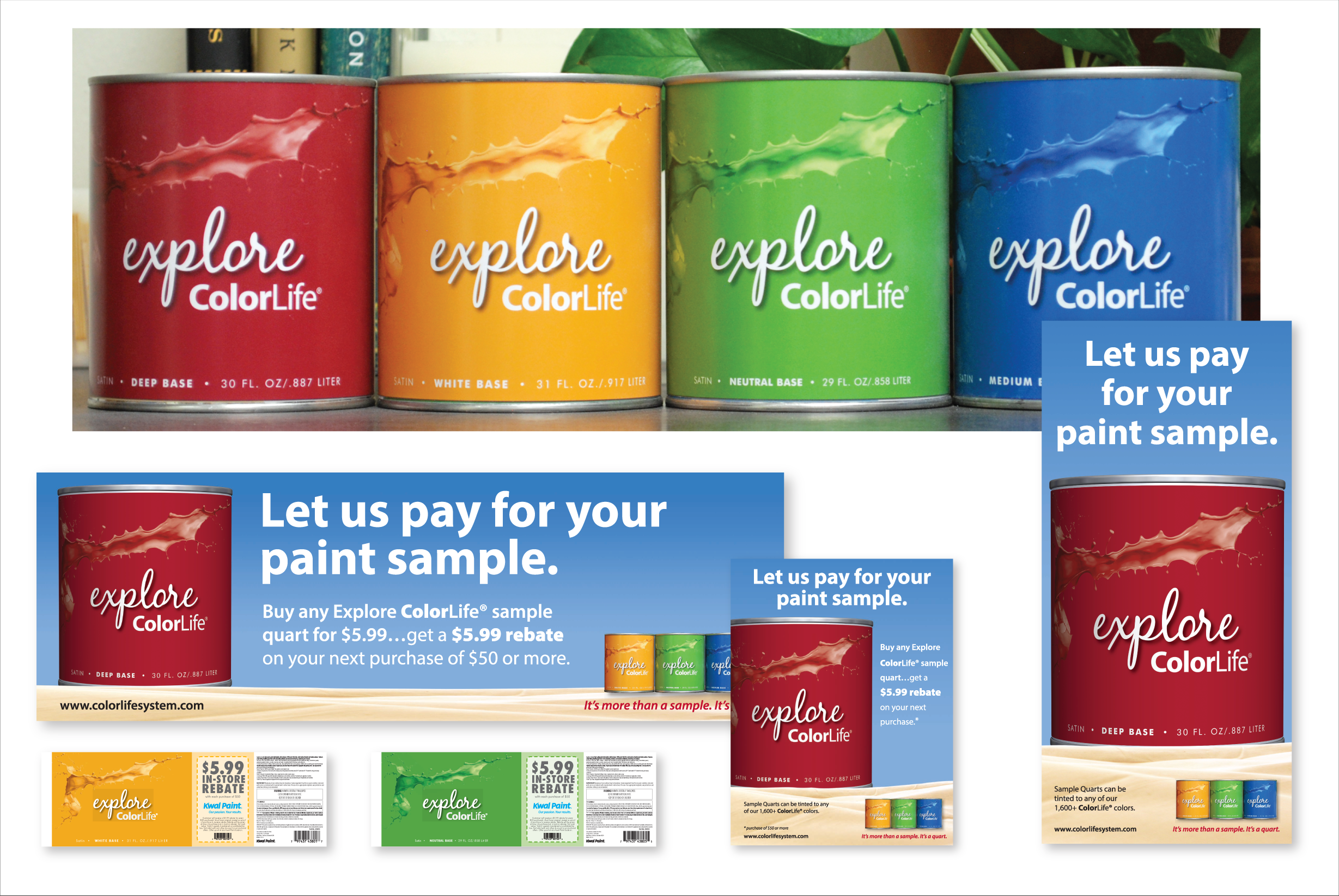 Kwal Paint Can Labels and POP Material