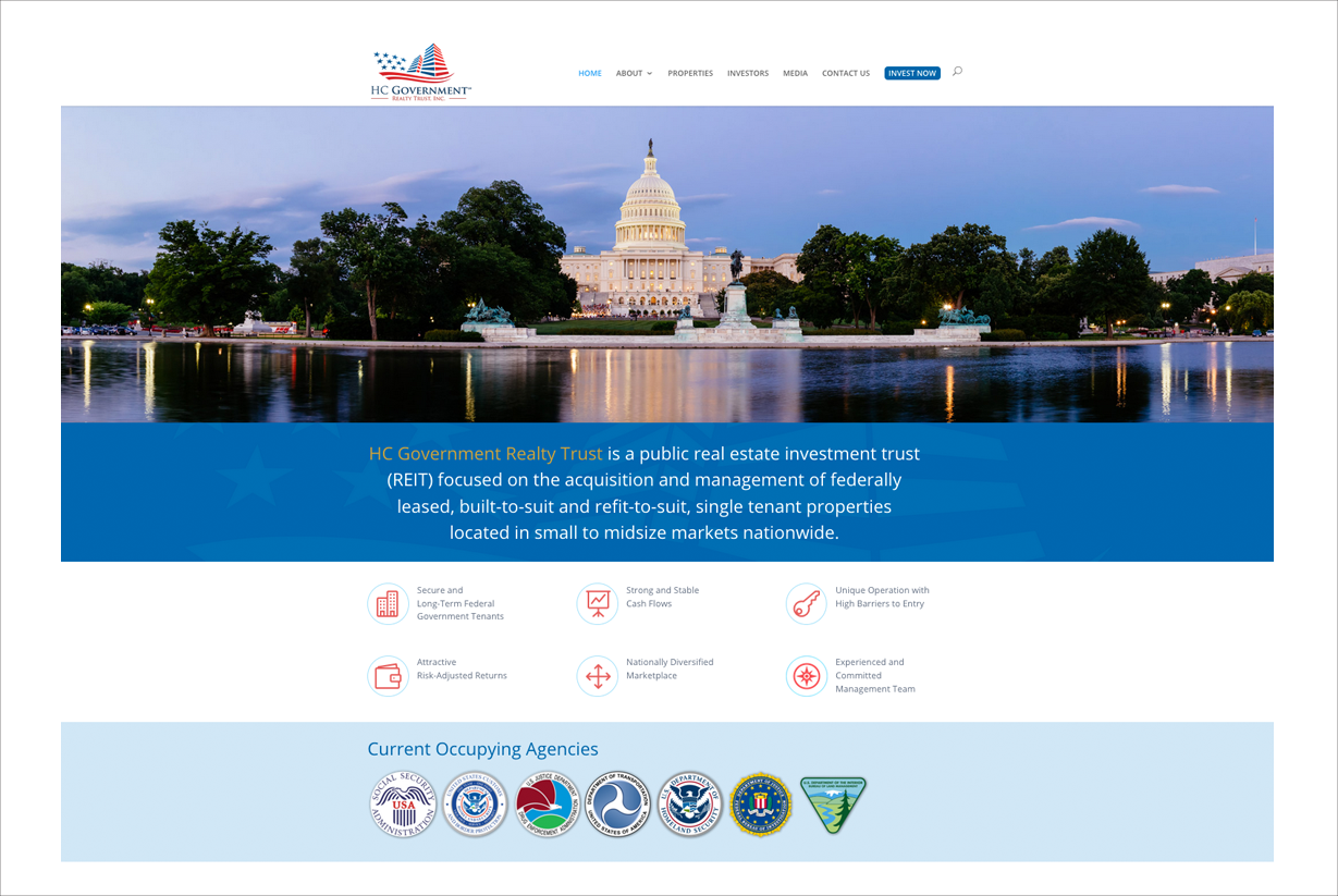 HC Government Realty Trust website